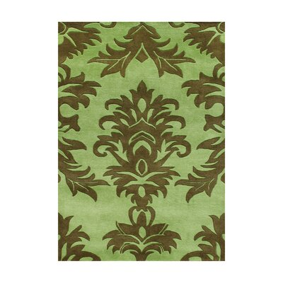 Amalapuram Hand-Tufted Palm Green Area Rug Rug Size: 5 x 8