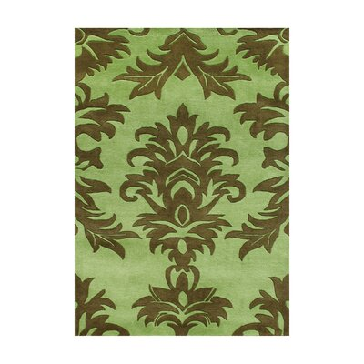 Amalapuram Hand-Tufted Palm Green Area Rug Rug Size: 9 x 12