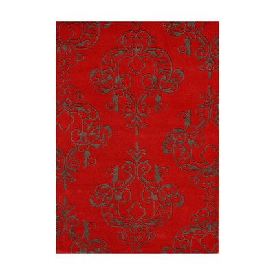 Amaravathi Hand-Tufted Dark Brown Area Rug Rug Size: 8 x 10
