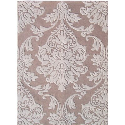 Ambejogai Hand-Tufted Beige/Gray Area Rug Rug Size: Rectangle 5 x 8