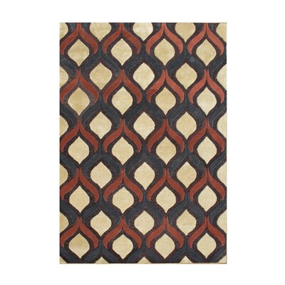 Anakapalle Hand-Tufted Sunset Gold Area Rug
