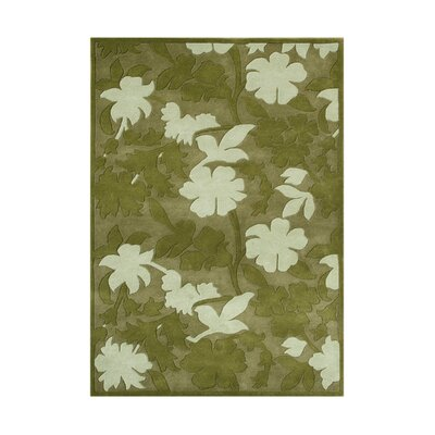 Anjangaon Hand-Tufted Garden Green Area Rug