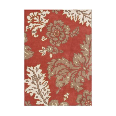 Ankleshwar Hand-Tufted Poppy Red Area Rug