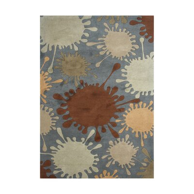Arsikere Hand-Tufted Smoke Gray Area Rug