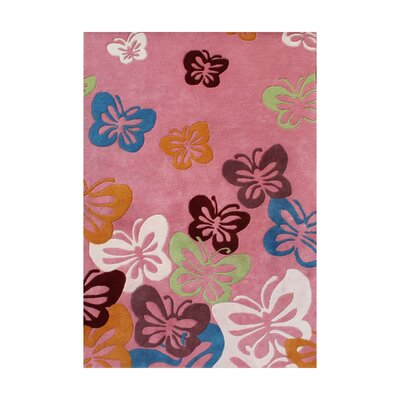 Aruppukkottai Hand-Tufted Pink Area Rug Rug Size: 4 x 6