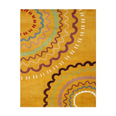 Arwal Hand-Tufted Orange Area Rug Rug Size: 5 x 8