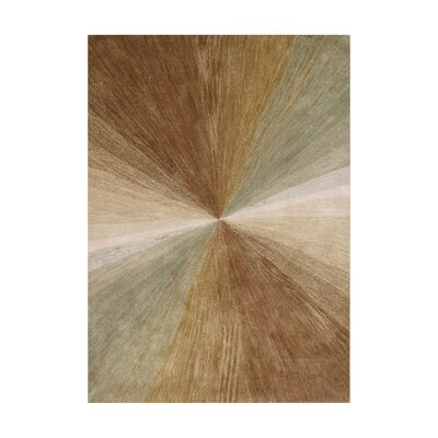 Nagar Hand-Tufted Brown Area Rug Rug Size: 5 x 8