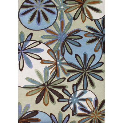 Attingal Hand-Tufted Blue Area Rug Rug Size: 5 x 8