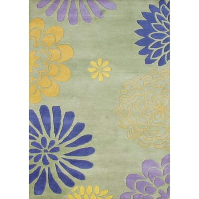Balaghat Hand-Tufted Bright Lime Green Area Rug Rug Size: 5' x 8'