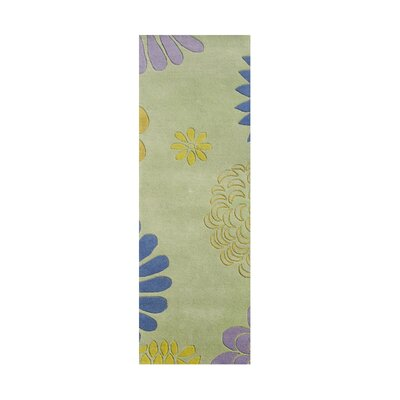 Balaghat Hand-Tufted Bright Lime Green Area Rug Rug Size: Runner 2 x 8