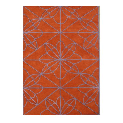 Bellampalle Hand-Tufted Red Orange Area Rug