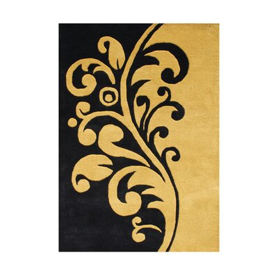 Belonia Hand-Tufted Black Area Rug