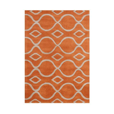 Bhawanipatna Hand-Tufted Apricot Orange Area Rug