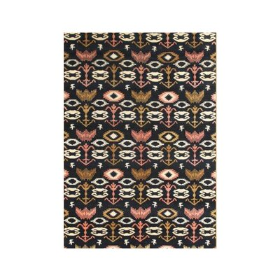 Chaibasa Hand-Tufted Black Area Rug