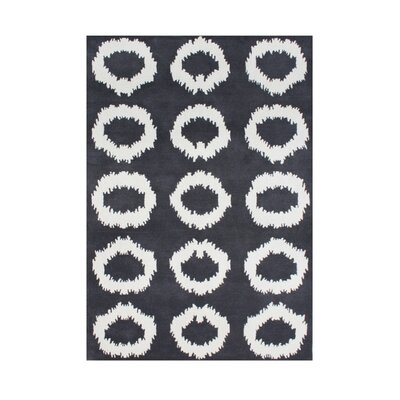 Chalakudy Hand-Tufted Black Olive Area Rug