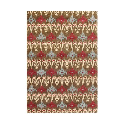 Chhapra Hand-Tufted Brown Area Rug