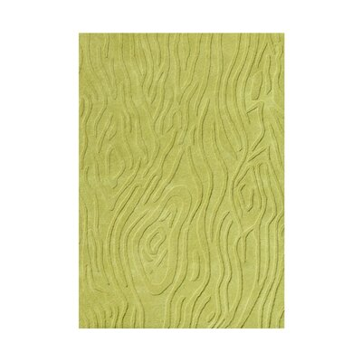 Hand-Tufted Lime Green Area Rug