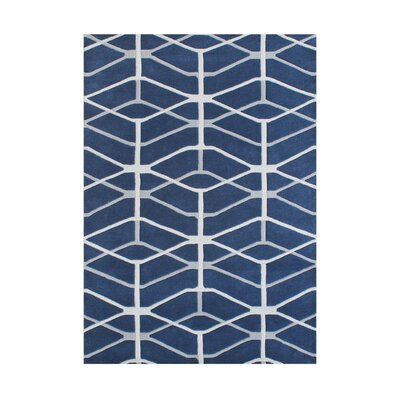 Hand-Tufted Moonlight Blue Area Rug