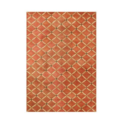 Hand-Tufted Orange Rust Area Rug