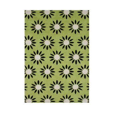 Hand-Tufted Parrot Green Area Rug