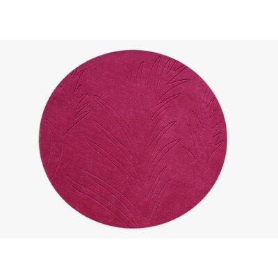 Hand-Tufted Fushsia Rose Area Rug Rug Size: Round 4