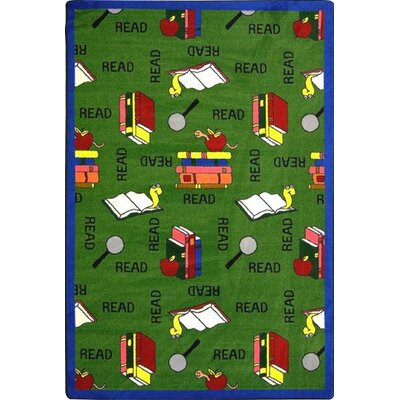 Green Area Rug Rug Size: Rectangle 5'4
