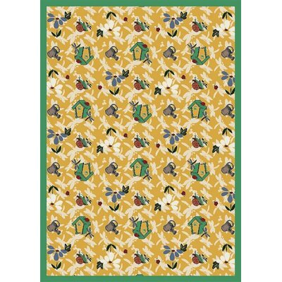 Gold Area Rug Rug Size: 5'4