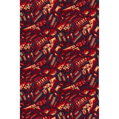 Red Area Rug Rug Size: 8 x 12