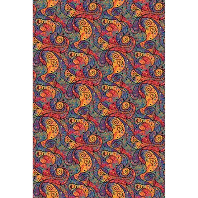 Blue/Red Area Rug Rug Size: 6 x 12