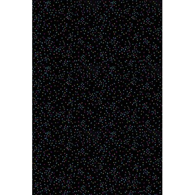 Black Area Rug Rug Size: Rectangle 6 x 12