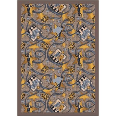 Taupe Area Rug Rug Size: 78 x 109