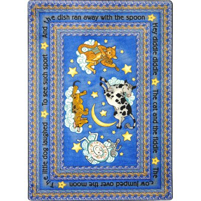 Area Rug Color: Blue, Rug Size: Oval 78 x 109