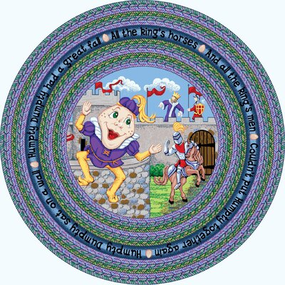 Blue Area Rug Rug Size: Round 77
