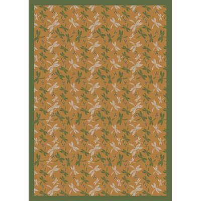 Gold Area Rug Rug Size: 310 x 54