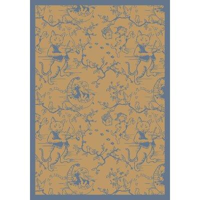 Blue/Beige Area Rug Rug Size: 310 x 54