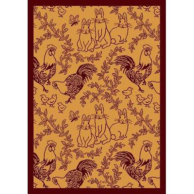 Tan/Rust Area Rug Rug Size: 54 x 78