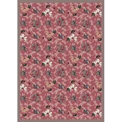 Pink Area Rug Rug Size: 78 x 109