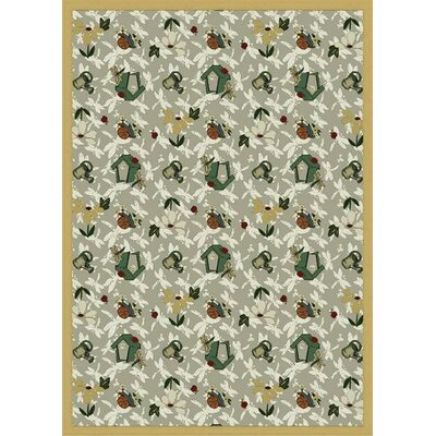 Taupe Area Rug Rug Size: 54 x 78