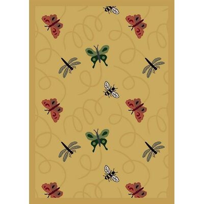 Gold Area Rug Rug Size: 54 x 78