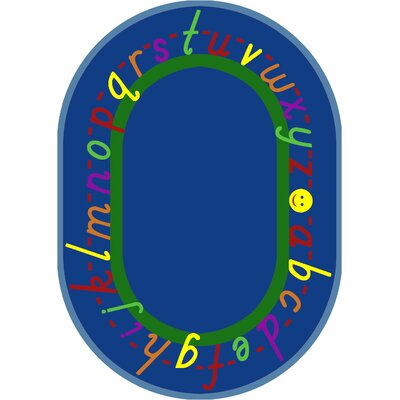 Blue Area Rug Rug Size: Oval 54 x 78