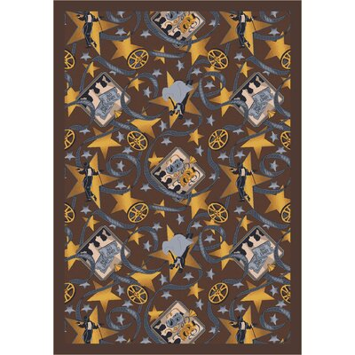 Chocolate Area Rug Rug Size: 78 x 109