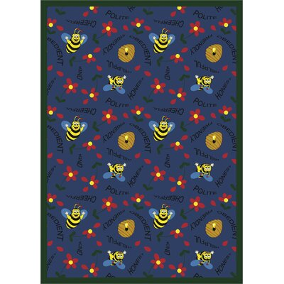 Blue Area Rug Rug Size: Rectangle 7'8