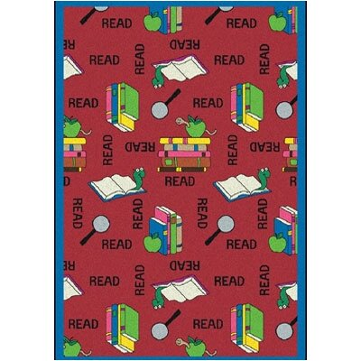 Red Area Rug Rug Size: 109 x 132