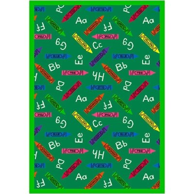 Green Area Rug Rug Size: Rectangle 78 x 109