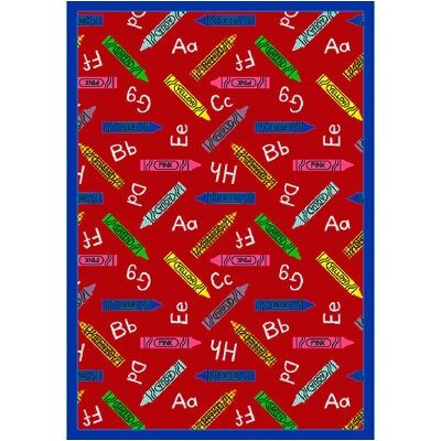 Red Area Rug Rug Size: 54 x 78