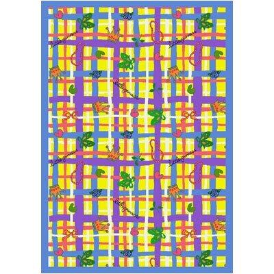 Yellow Area Rug Rug Size: 78 x 109