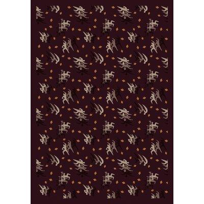 Burgundy Area Rug Rug Size: 310 x 54