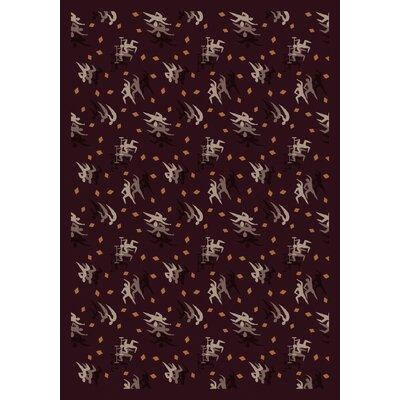 Burgundy Area Rug Rug Size: 78 x 109