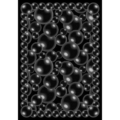 Bubbles Black Area Rug Rug Size: 54 x 78