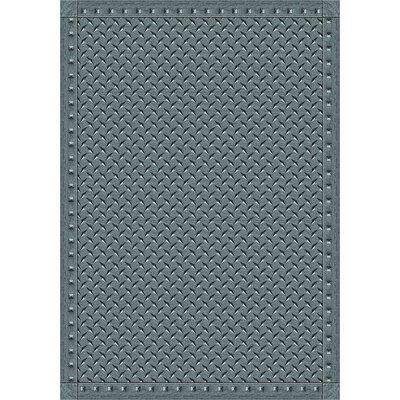 Gray Area Rug Rug Size: 78 x 109